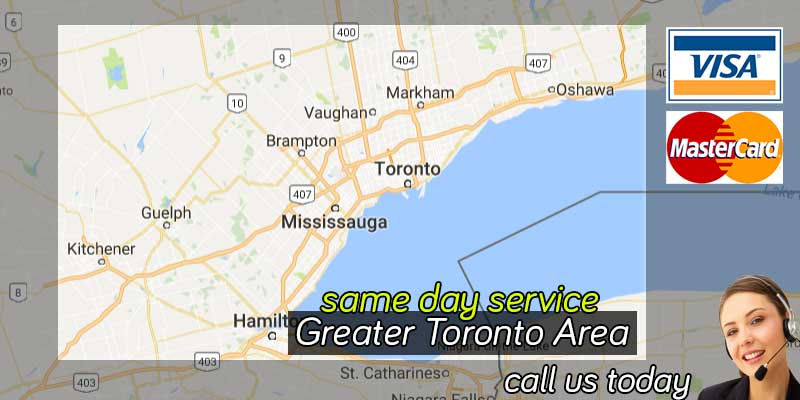 Greater Toronto Ontario map