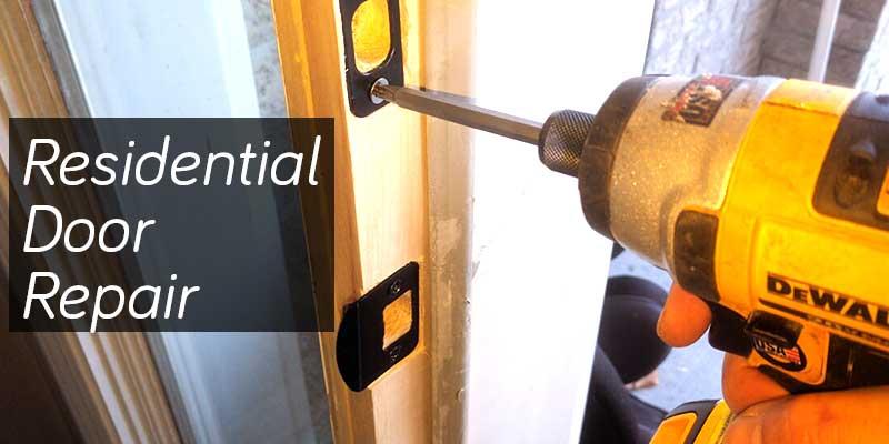 Front door frame repair work