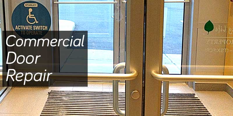 Aluminum glass door on a commercial buildong